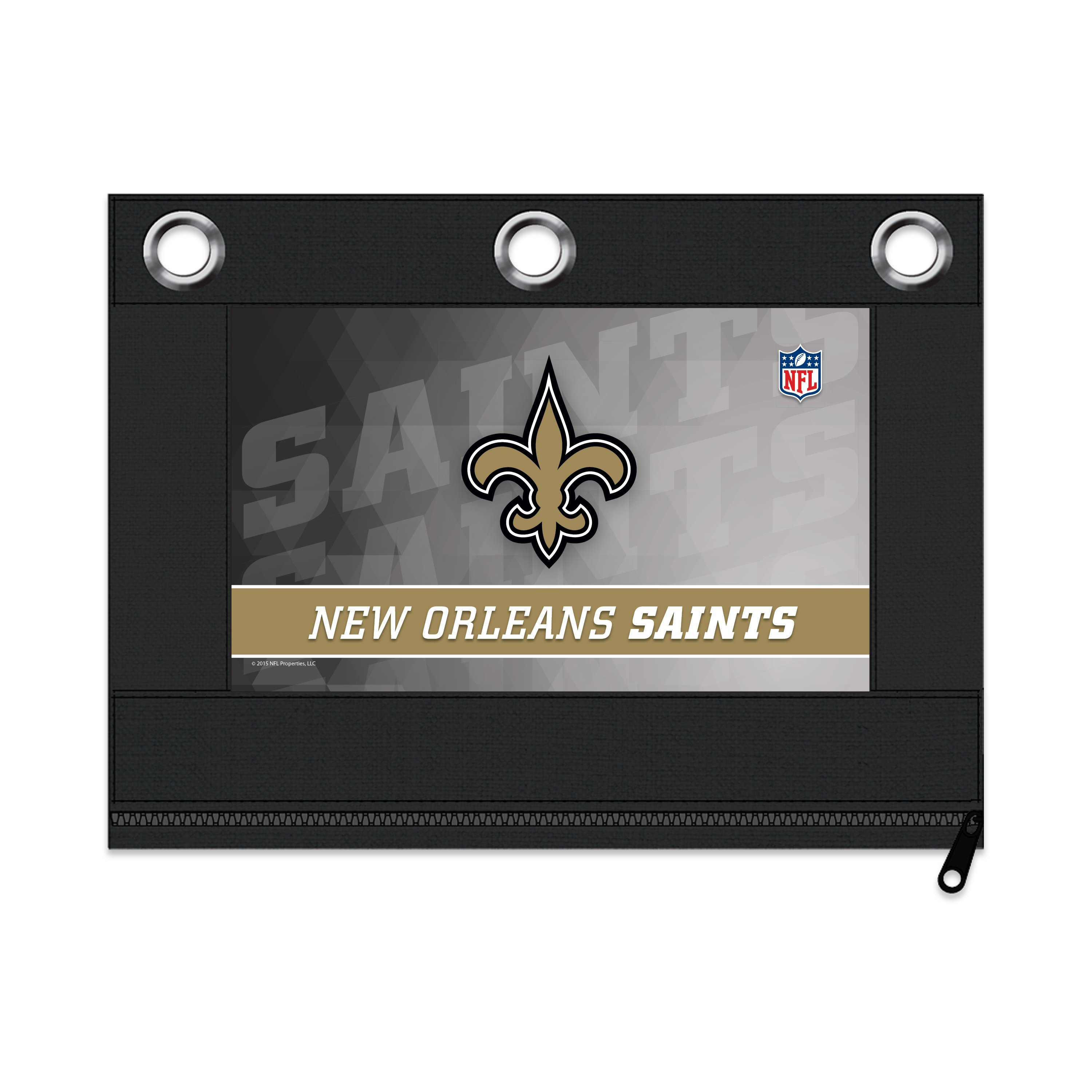 NFL New Orleans Saints Zippered Pencil Pouch with Grommets