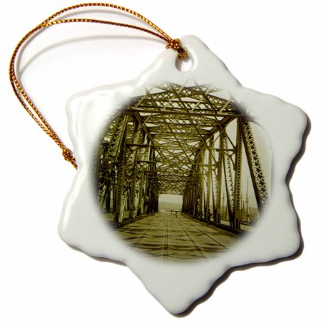 3dRose 145th Street Bridge Harlem River New York City Vintage 1885 - Snowflake Ornament, 3-inch - Party City In Harlem