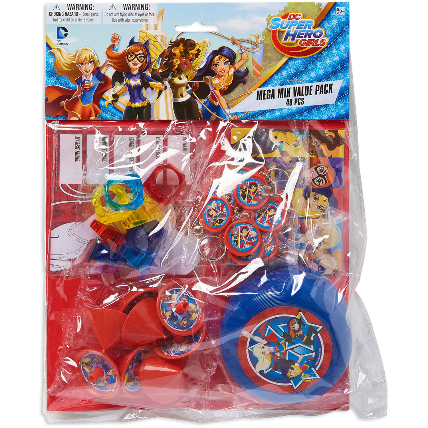 DC Super Hero Girls Party Favor Pack, Value Pack, Party Supplies