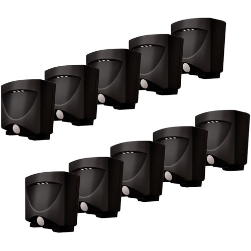 Maxsa Innovations Outdoor Night Lights, 10 Pack, Bronze