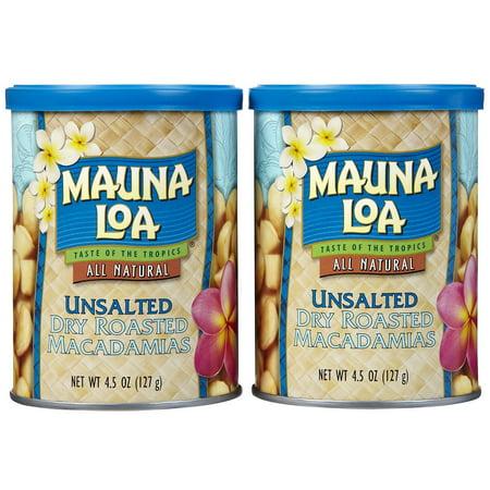 Mauna Loa Roasted Unsalted Macadamia Nuts Can, 4.5 oz, 2 -