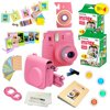 Fujifilm Instax Mini 9 Camera Pink + 15 PC Accessory Kit for Fujifilm instax mini 9 Instant Camera Includes: 40 Fuji Instax Films + Case + Album + Colored lenses + Assorted color/Style frames + MORE  Fujifilm instax mini 9 DELUXE bundle by quality photo includes 1. Fujifilm instax mini 9 camera (color of your choice) 2. Fujifilm instax mini 9 films (40 pack) 3. 10 wall hang frames 4. 5 plastic instax photo plastic Frams 5. instax mini 9 photo album 6. instax mini 9 camera case with strap 7. Special close up lens 8. 4-color lens filters 9. Camera body Decoration sticker 10. Quality photo ultra gentle microfiber cloth 11. 20 pack of frame stickers♦ Fujifilm instax mini 9 cameraINSTAX Mini 9 camera offers a slimmer body ease of use with new features and enhancements.  ♦ Fujifilm instax mini 9 films (40 pack)Hi-Speed ISO 800 - With superb grain quality, ensures vibrant color and natural skin tones ♦ Fujifilm mini 9 camera case with strapMade of Poly-synthetic leather ♦ instax 64 pocket photo album ♦ 20 pack sticker framesadd color to your favored captures  ♦ 10pcs rectangle colorful wall decor hanging frame ♦ 5 Colorful Frames specially designed for Mini Instant Photos ♦ 4 Colorful filters(Blue, Green, Red and Orange) for capturing pictures in a unique colorful style ♦ Camera decor sticker for Fujifilm Instax mini 9 cameraCompliments the Instax mini 9 cameras. (Color in picture might show different than the Actual color, actual color may vary)♦ Quality photo microfiber clothextremely fine lint free microfiber Safe for all surfaces and lenses.""