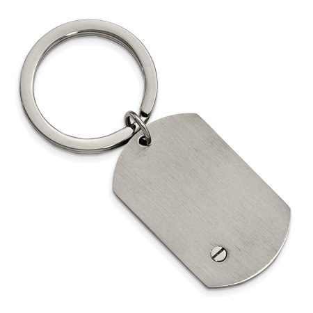 Stainless Steel Brushed and Polished Bracelet, Money Clip and Key Ring Set - image 6 of 8