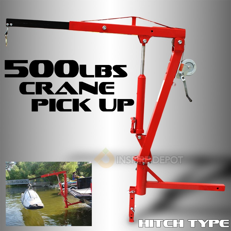 500LB Hydraulic Hitch Crane PWC Dock Jib Hoist by