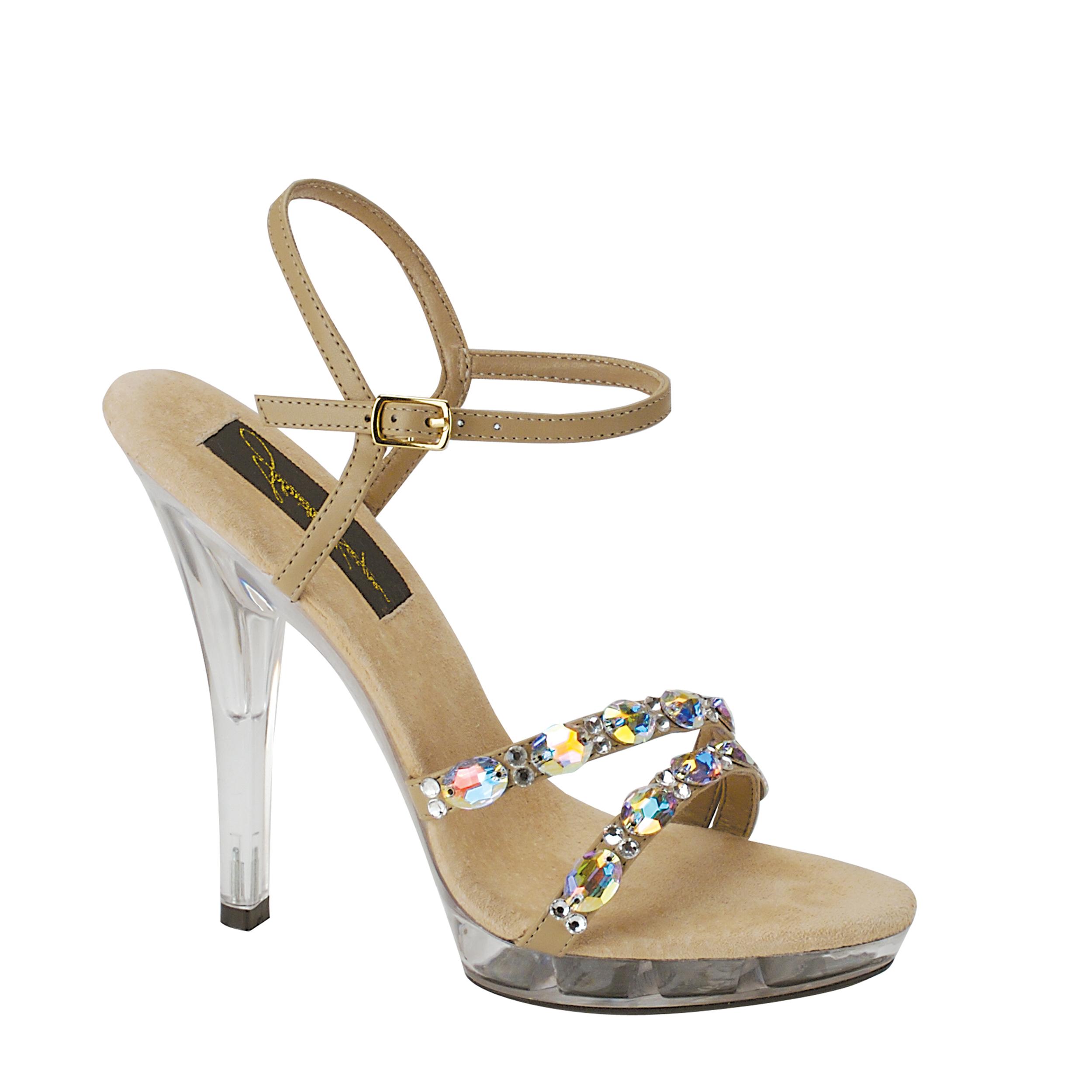 Johnathan Kayne Womens Austria Platform Sandal,Taupe,9 M US