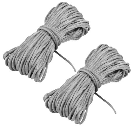 Nylon Handcraft Chinese Knot Bracelet Beading String Cord Gray 22 Yards 2pcs (String Bracelet)