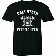 Firefighter Volunr Fire Rescue Thin Red Line Department Mens Shirt