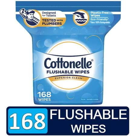 Cottonelle FreshCare Flushable Wipes 168-Count Now $6.98 (Was $13.85)