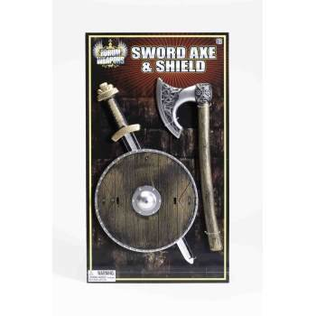 CHILD VIKING SHIELD/SWORD/AXE](Toy Sword And Shield)