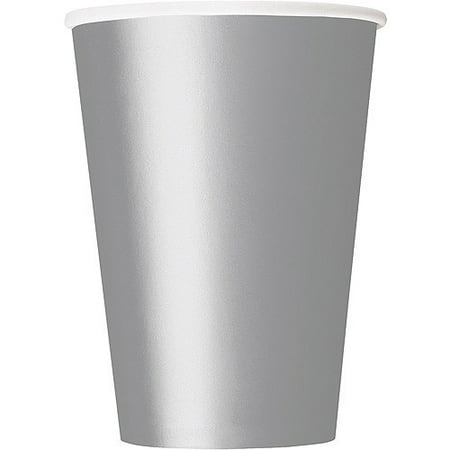 Paper Cups, 12 oz, Silver, 10ct