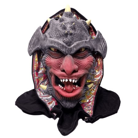 Crazy Halloween Masks (Crazy Devil Halloween Costume Full Head Mask, Red Grey,)