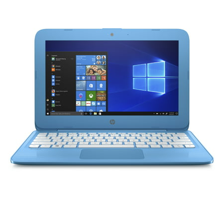 "Refurbished HP 11-AH011WM 11.6"" Laptop Intel Celeron N3060 1.6 GHz 4GB SDRAM 32GB eMMC Aqua Blue"