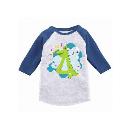 Alligator Birthday Jersey 4th Party Outfit Baby Girl Shirt Boy Tshirt Gifts For 4 Year Old T