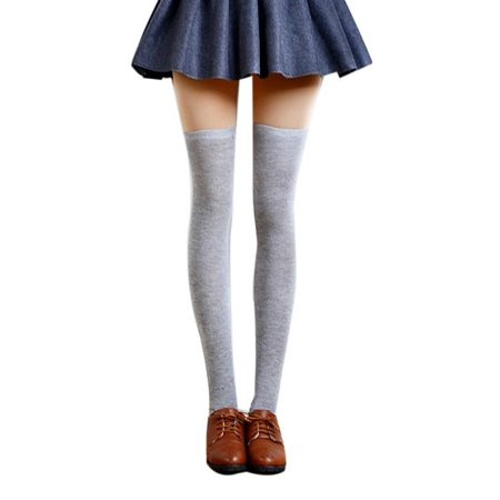 Women Sexy Thigh High Over The Knee Socks Long Cotton Stockings (Fruit Of The Loom Stockings)