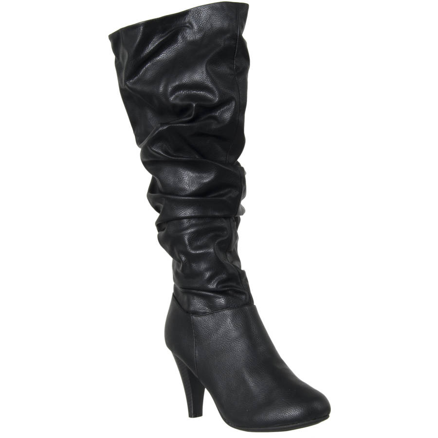 riverberry womens valencia high heel slouch boots black