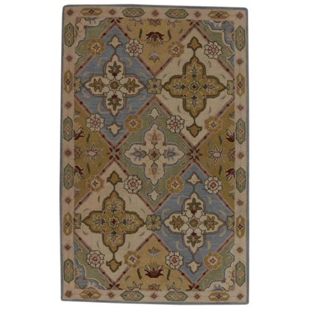 Hand-Tufted Oriental Oushak Agra Area Rug for Dining Room 10x13