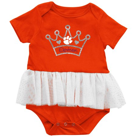Clemson Tigers Colosseum Girls Infant Princess Consuela Tutu Bodysuit - Orange - Girls Tiger Onesie