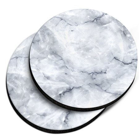 Caribou Drink Car Coaster Set of 2, White Shiny (Marble Wine Coaster)