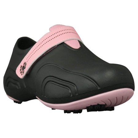 USA Dawgs WUG6113 DAWGS Womens Ultralite Golf Shoes - Black-Soft Pink - Size 5