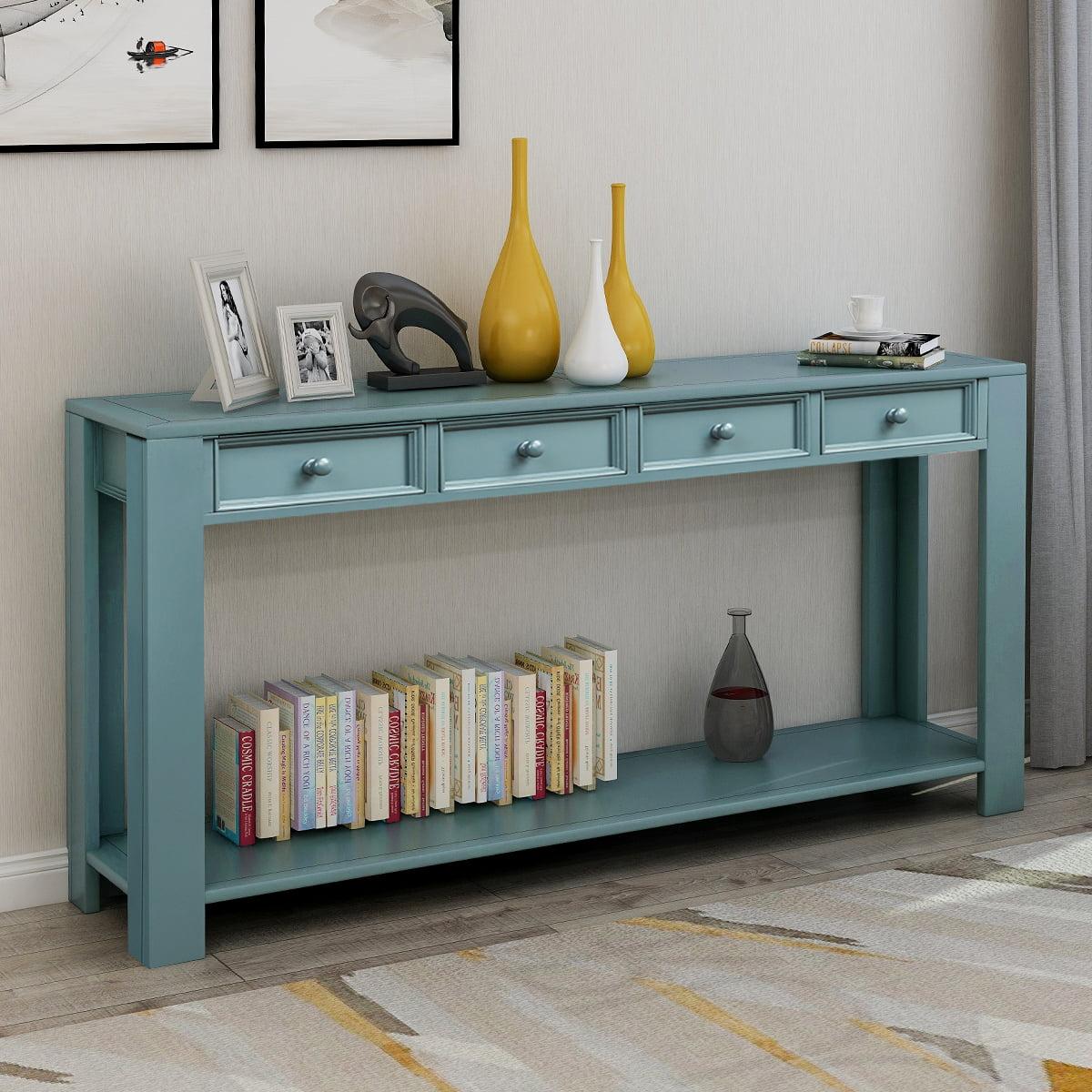 "Buffet Sideboard Console Sofa Table, 64""× 15""× 30 ..."