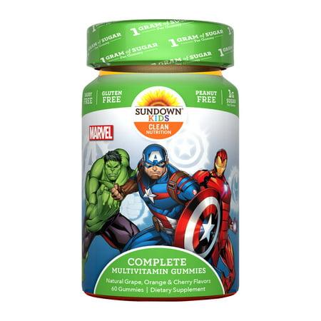 Sundown Naturals® Kids Marvel Avengers® Complete Multivitamin, 60 Gummies (Sundown Gummy Vitamin)