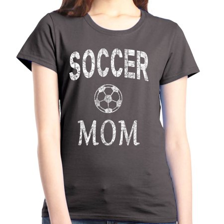 Shop4Ever Women's Soccer Mom Sporty Mom Graphic -