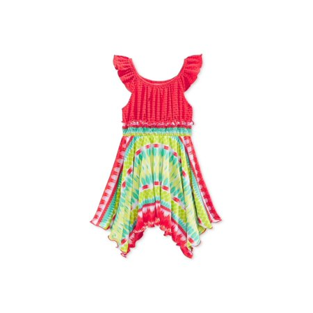 - Sweet Heart Rose Girls Flutter-Sleeve Tie Dye Tank Dress