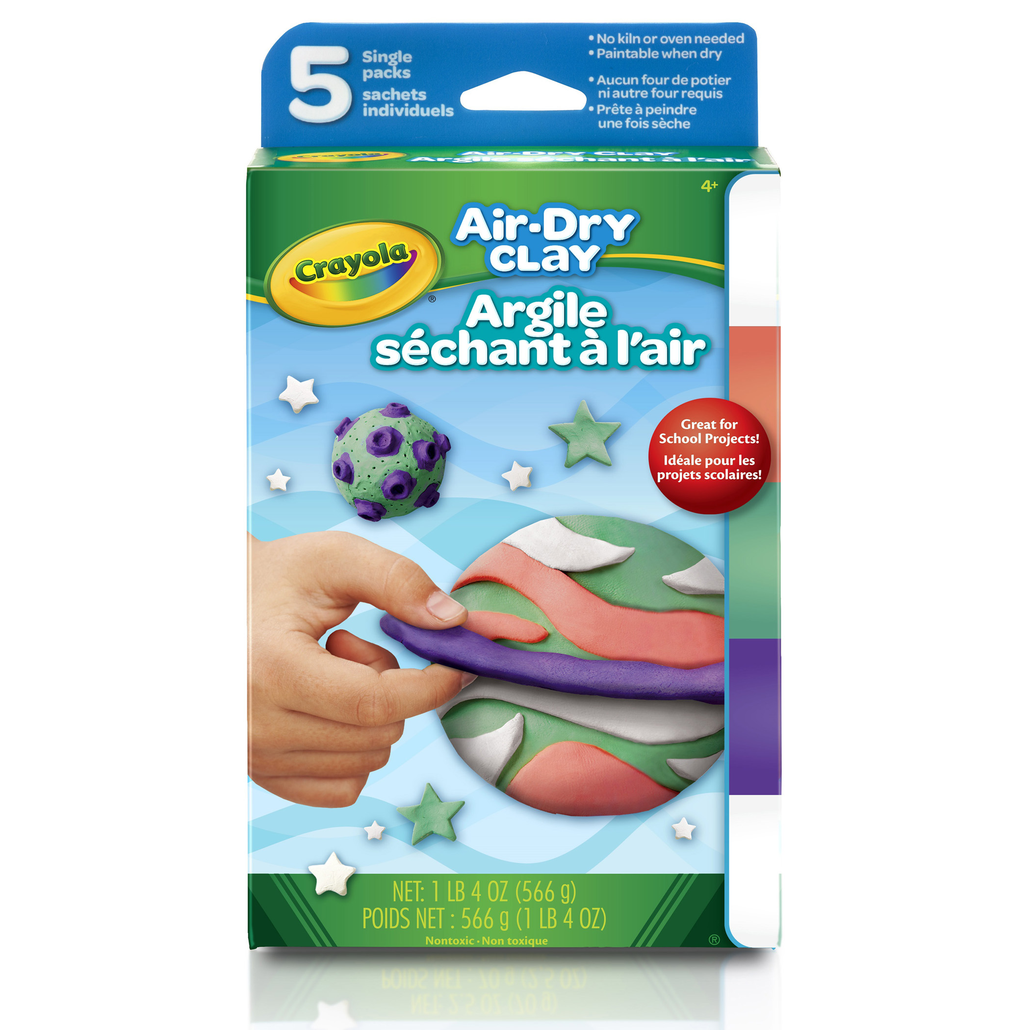 Crayola Air-Dry Clay Variety Pack, 5 Bright Colors Per Pack, 3 Packs