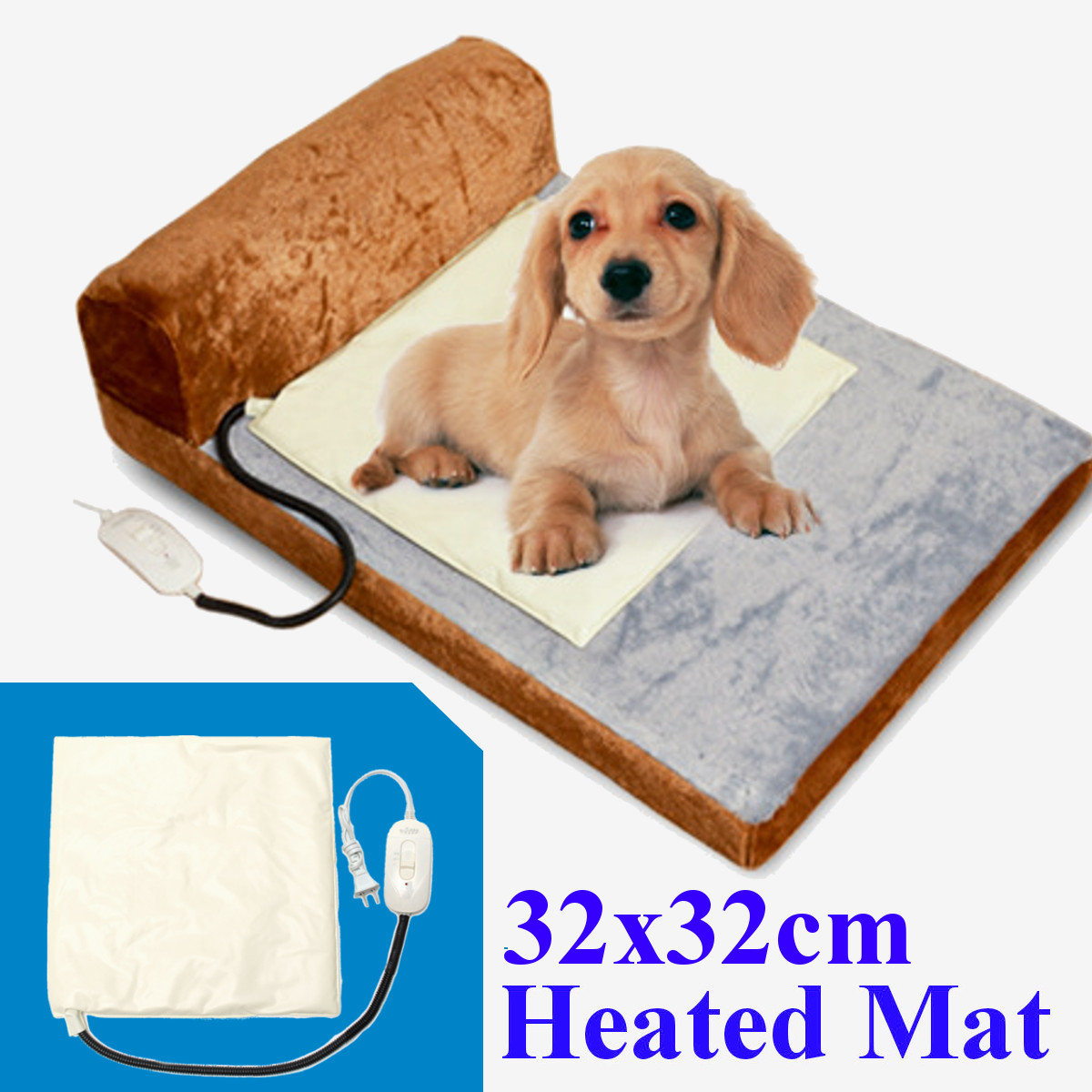 32 Electric Warmer Heated Pet Dog Cat Puppy Bed Pad Mats Dog Cat Puppy Heating Waterproof Blanket