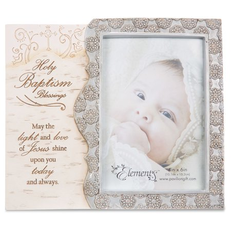 Pavilion Gift Company Elements 82410 Holy Baptism Photo Frame (Tiffany Baptism Gift)