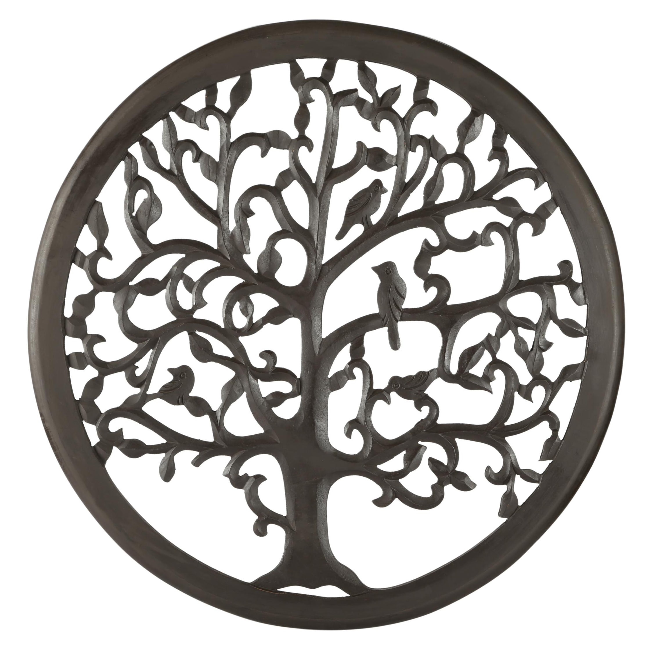 "St. Croix Trading Company 12"" Dark Brown Solaris Ten Tree of Life Wall Art"