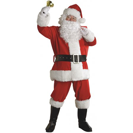 Regal Plush Santa Claus Set Adult Costume - - Santa Costume Rentals