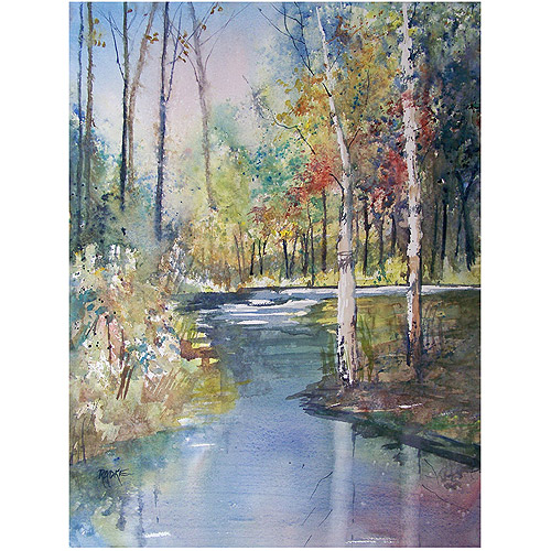"Trademark Art ""Hartman Creek Birches"" Canvas Art by Ryan Radke"