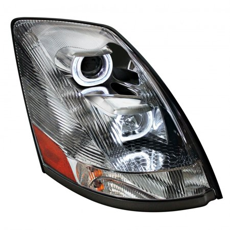 Volvo Headlight - Volvo VN / VNL 2004+ and Newer Projection Headlight with LED Position Light Bar