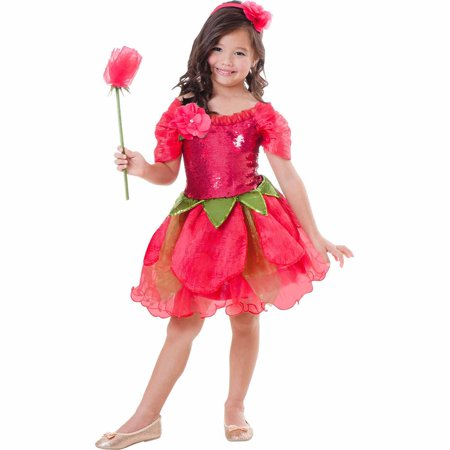 7d900b0c3108 Rose Flower Fairy Child Halloween Costume - Walmart.com