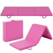 Best Choice Products 6' Exercise Tri-Fold Gym Mat For Gymnastics, Aerobics, Yoga, Martial Arts Pink by