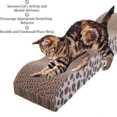 Cat Scratch Toy (Zimtown Cat Scratcher, Scratching Pad Toy for Cats by Meow Scratch Board with a Curved Wave Design - Satisfy your kitty's Natural Scratching Instinct - Save your Furniture)