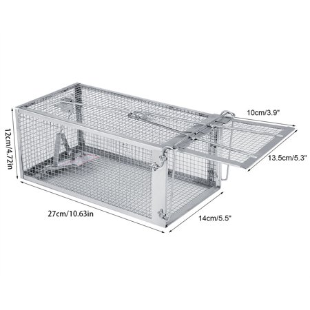 Sonew Mouse Trap Cage, Rat Trap,27*14*12cm Rat Trap Cage Small Animal Pest Rodent Mouse Control Bait Catch - image 2 of 8