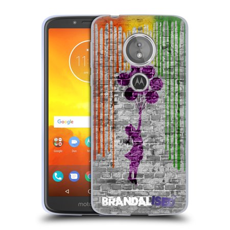 OFFICIAL BRANDALISED BANKSY ART COLOURED DRIPS SOFT GEL CASE FOR MOTOROLA PHONES