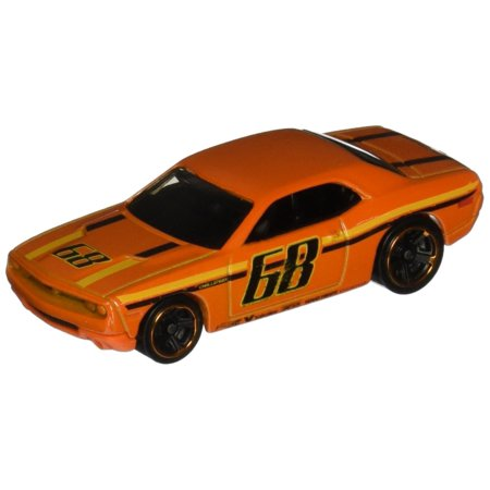 Diecast Dodge Concept Vehicle (, 2015 HW Workshop, Dodge Challenger Concept [Orange] Die-Cast Vehicle #234/250, DIE CAST WITH PLASTIC PARTS By Hot)