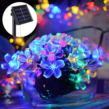 Sakura Christmas Party.Mavis Laven Sakura String Lights Peach Blossom String Lights 9 5m 31 17ft Solar Powered 50 Led Peach Blossom String Lights Christmas Party Decor