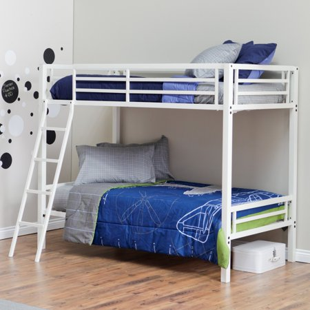 Duro Hanley Twin Over Twin Bunk Bed - White (Duro Bed)
