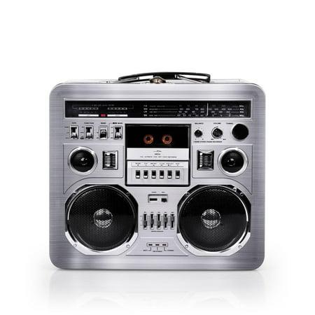 80's Boombox Radio Lunchbox Tin - Collectible Lunch Box Tin