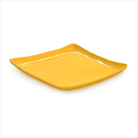 New Yorker 13.75 inch Square Plate Tropical Yellow Melamine/Case of -