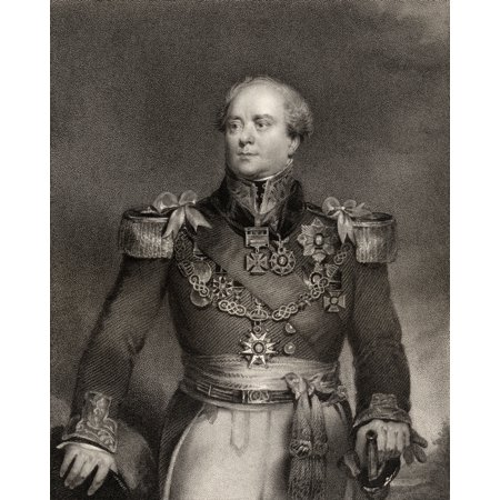 Sir Archibald Campbell 1St Baronet 1769 To 1843 Officer In The British Army And Administrator Of The Colony Of New Brunswick Engraved By J Cochran After J Wood From The Book National Portrait Gallery
