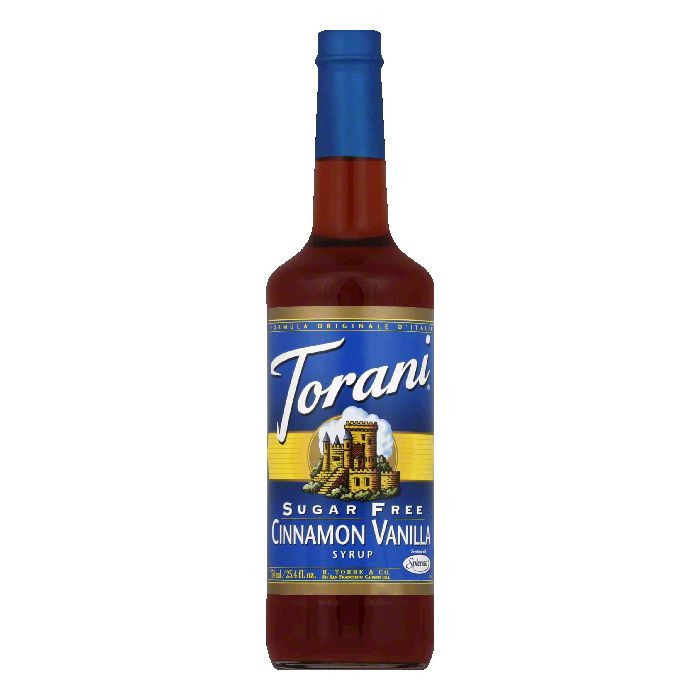 Torani Cinnamon Vanilla Sugar Free Syrup, 25.4 FO (Pack o...