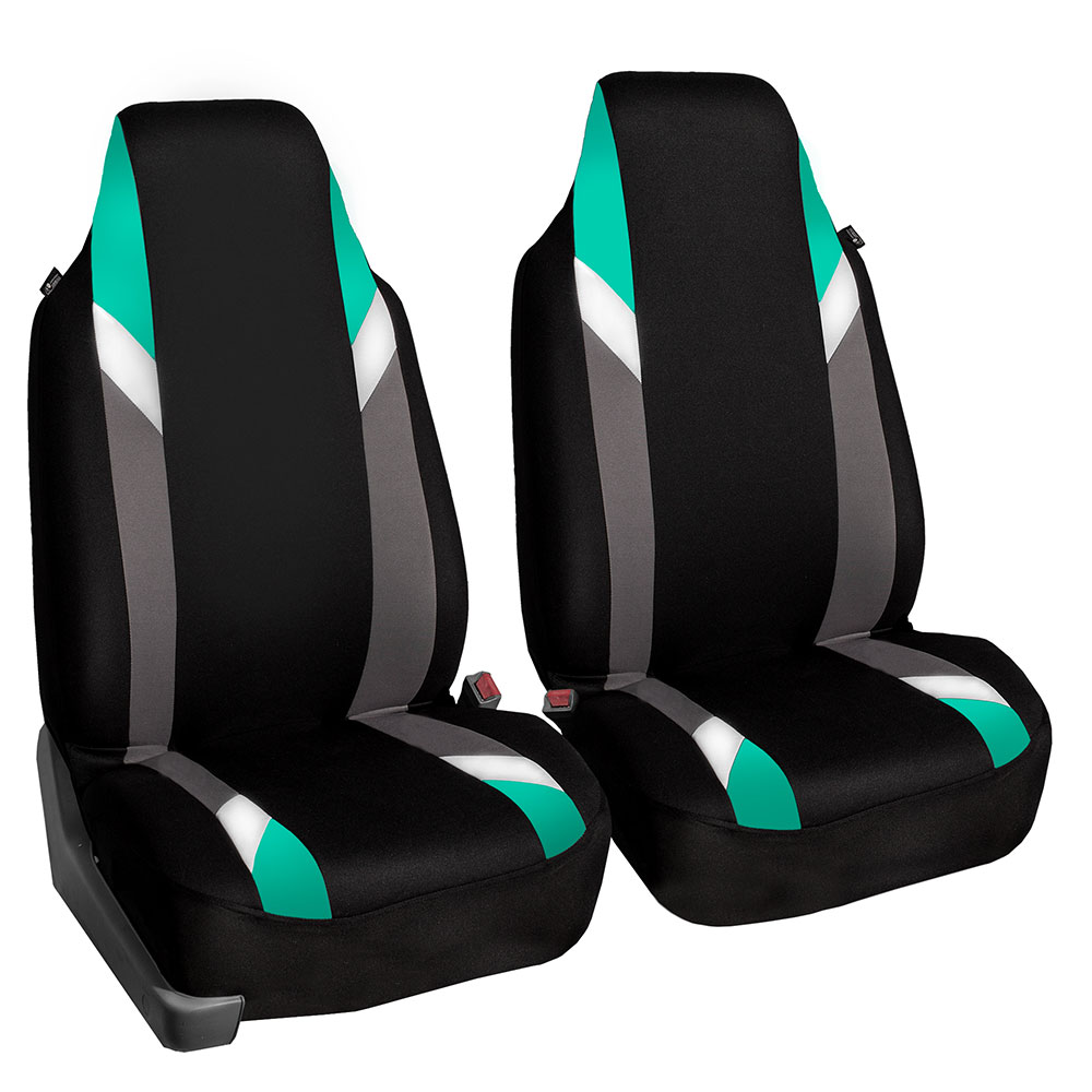 FH GROUP Premium Modernistic Full Set Car Seat Covers, Mint
