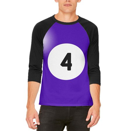 Halloween Billiard Pool Ball Four Costume All Over Mens Raglan T Shirt