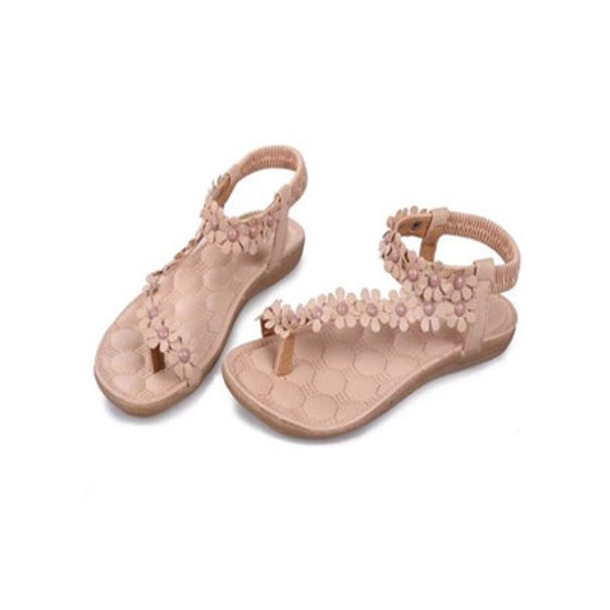 ac9633f2c9b46 Summer Bohemia Sweet Beaded Sandals Clip Toe Sandals Beach Shoes WH ...