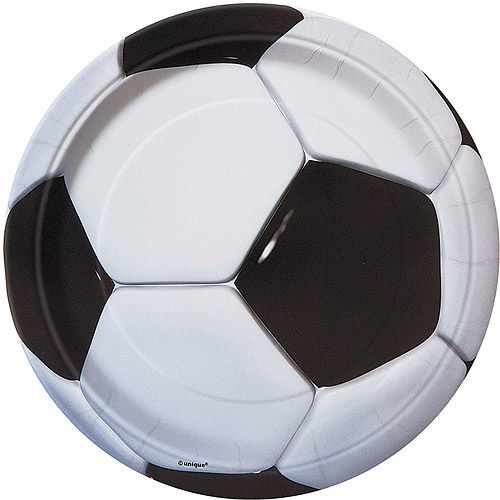 "7"" Soccer Party Plates, 8ct"